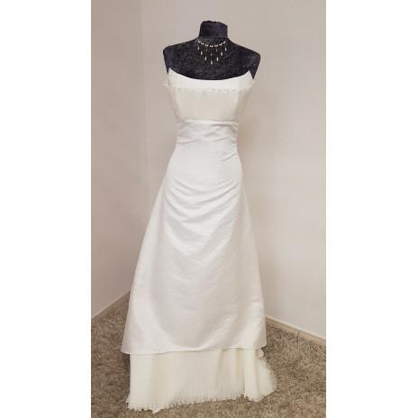 robe de mariée plissée