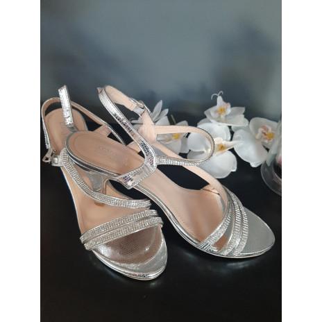 Chaussures argentées femme