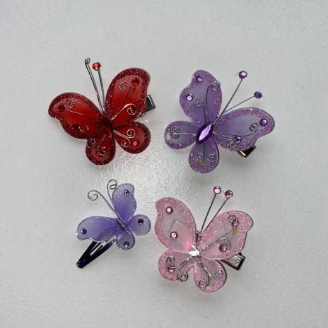 Barrettes enfant en papillon