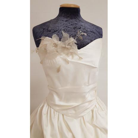 Robe de mariée foudre en soie